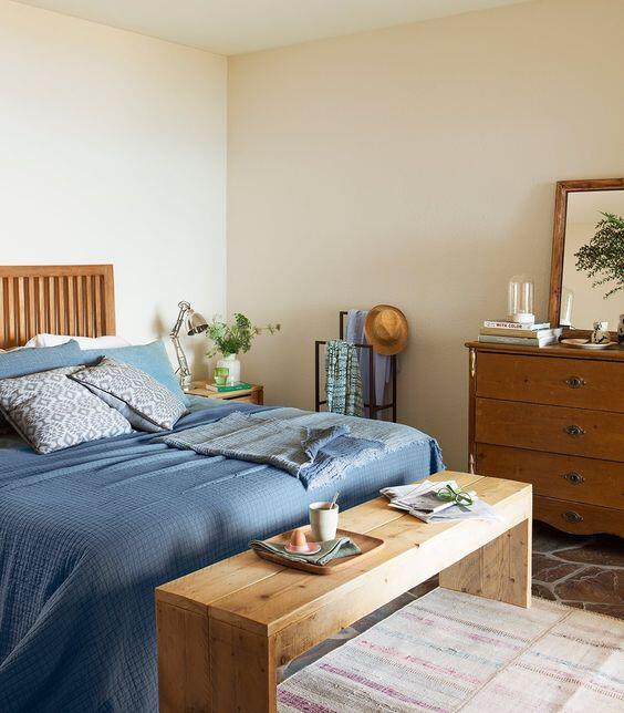 Diseño dormitorio. Banco