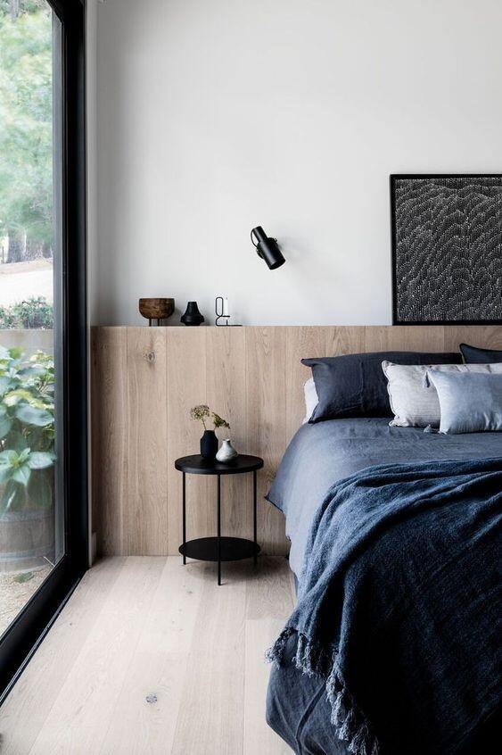 Diseño dormitorio. Cama