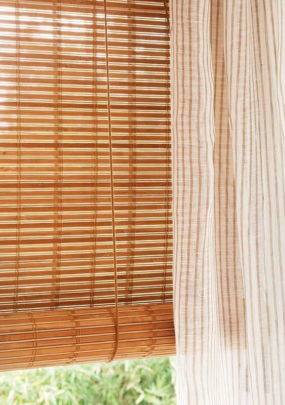 Estor y cortina en ventana
