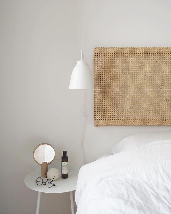 Diseño dormitorio. Lampara