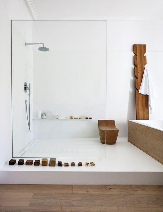 mampara de baño transparente