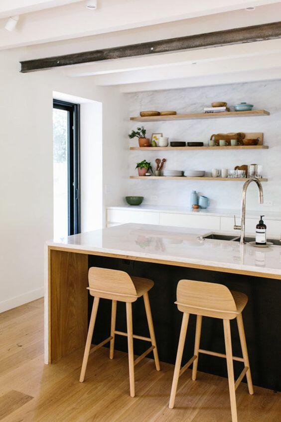 vista de la reforma de una cocina