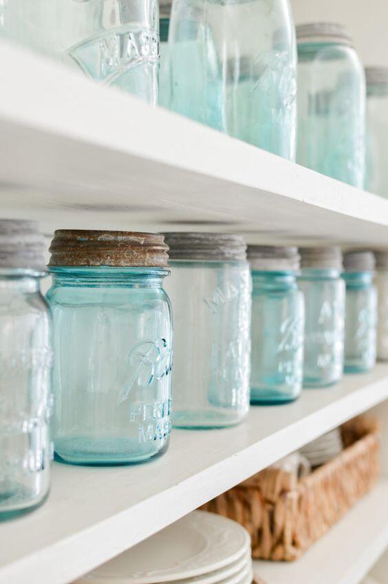 Botellas azules