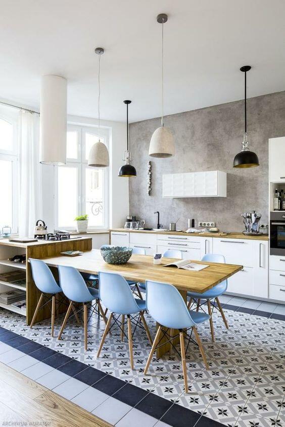 Cocina abierta de diseño