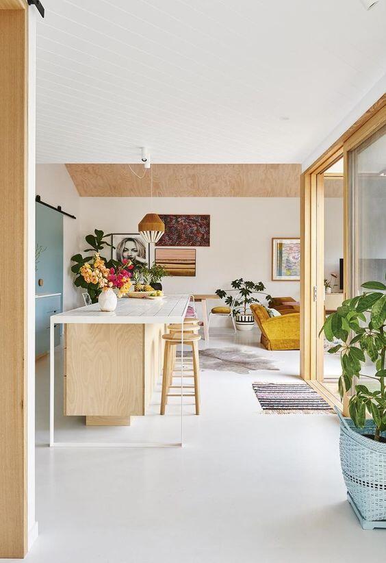 Diseño de la cocina de una casa