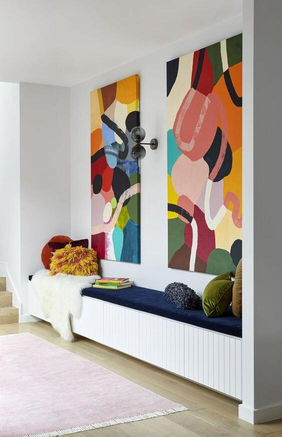 Diseño de la zona de sofás de una casa